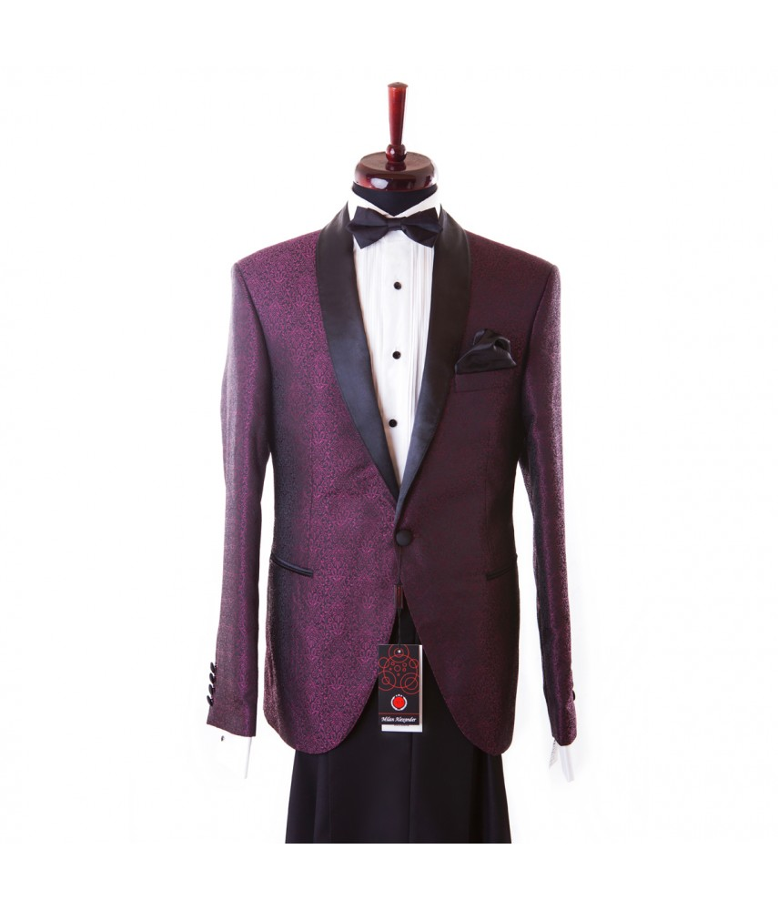 Costum Bergunzi,  Jacquard Purple