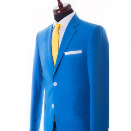 Costum Turquoise, Business Casual