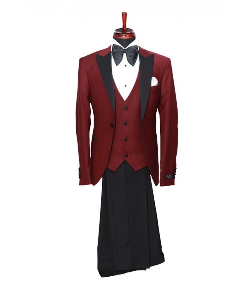 Costum ceremonie  burgundy