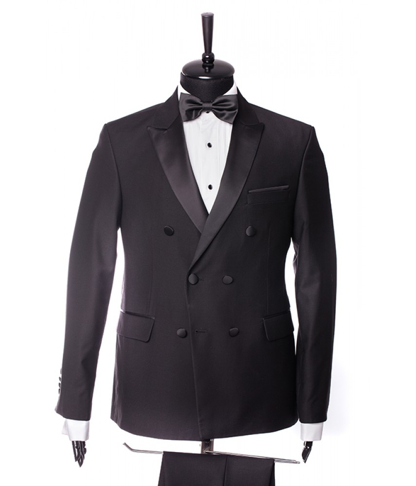 Costum Spencer Black, Tuxedo Double Breasted