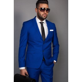 Costum barbatesc albastru electric