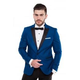 Costum de ceremonie ERIC, sacou albastru, pantaloni negri