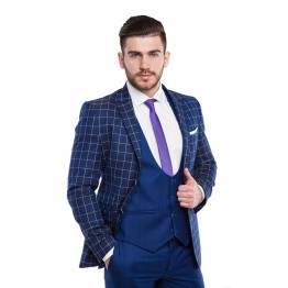 Costum Slim Fit AMADEO, Albastru Marin