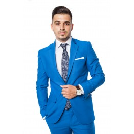 Costum Slim-Fit Christian, Albastru Light